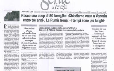 """Nasce una coop di 50 famiglie: """"Chiediamo casa a Venezia entro tre anni""""."""