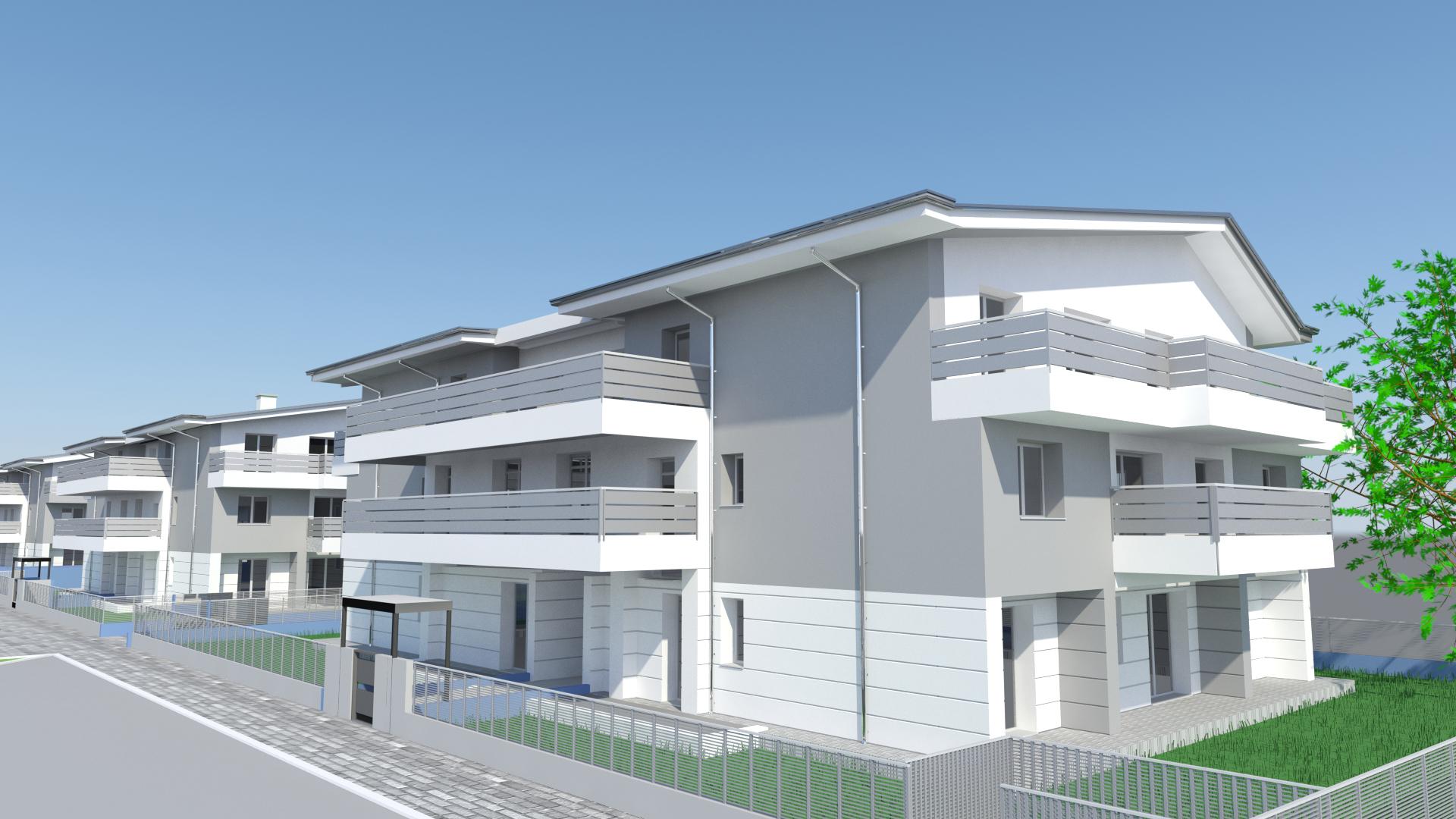Altichiero pd lotto 8 39 appartamenti consorzio cerv for Palazzine moderne