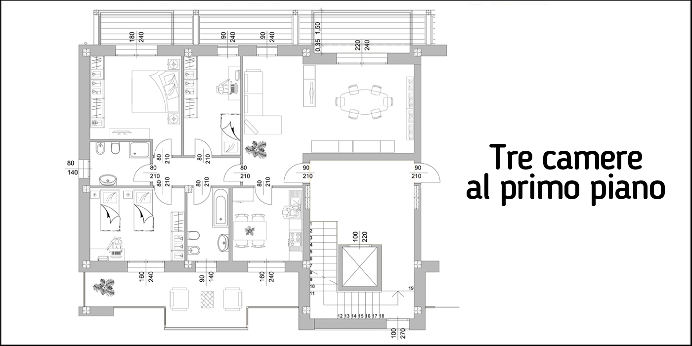 gazzera-tre-camere-primo-piano