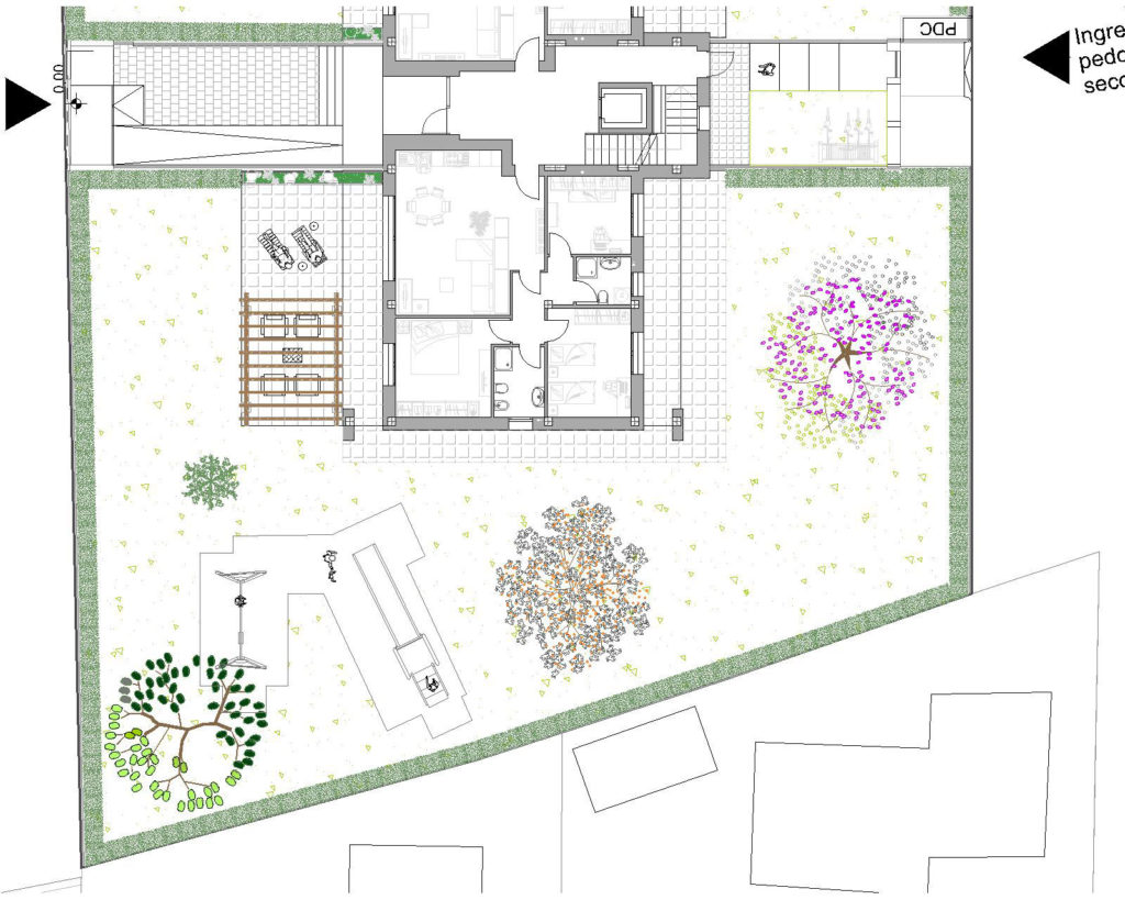 Ampio giardino per i due camere al piano terra